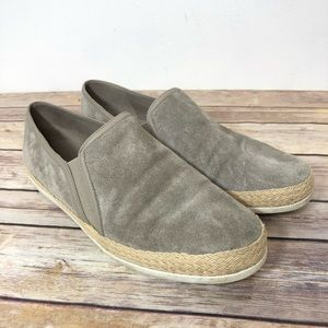 Vince Suede Slip On Shoes Casual Tan Size 8.5